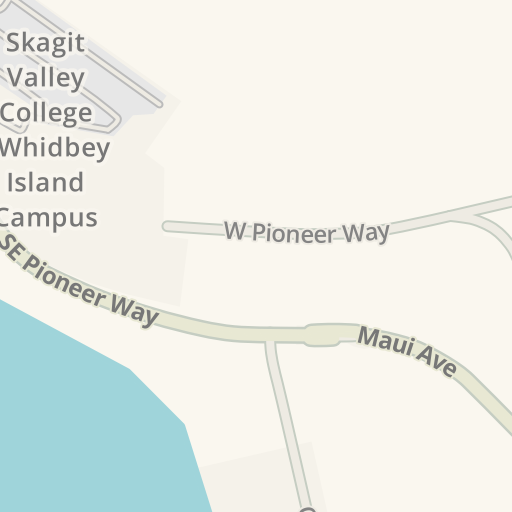 Waze Livemap Driving Directions To Skagit Valley College Whidbey