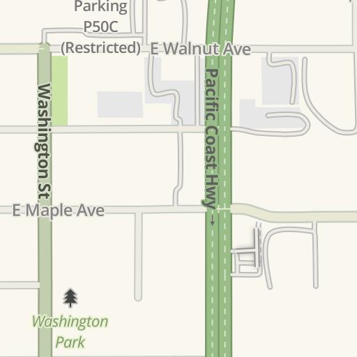 Raytheon El Segundo Campus Map.Waze Livemap Driving Directions To Raytheon Bldg R1 El Segundo