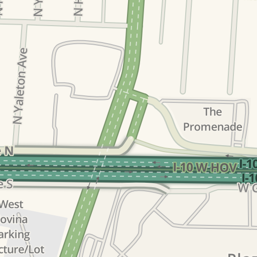 Waze Livemap Driving Directions To Kaiser Permanente West Covina