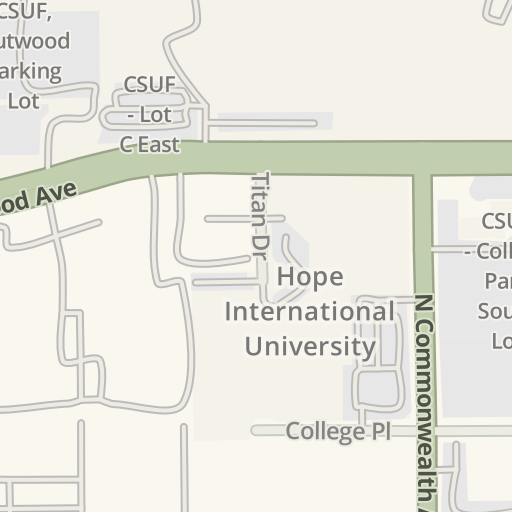 Waze Livemap Driving Directions To Cal State Fullerton Campus Pd