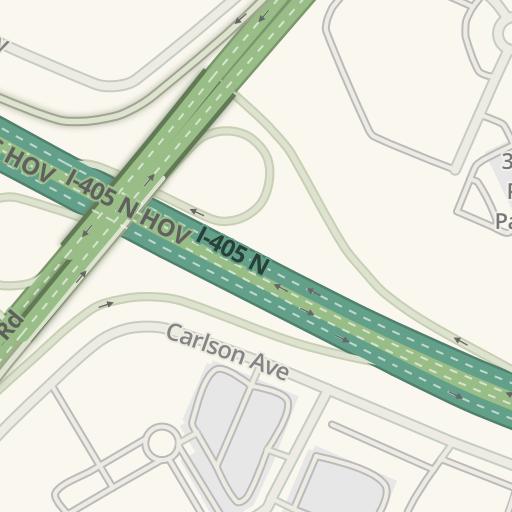 Waze Livemap - Driving Directions to Hilton Garden Inn, Irvine ...