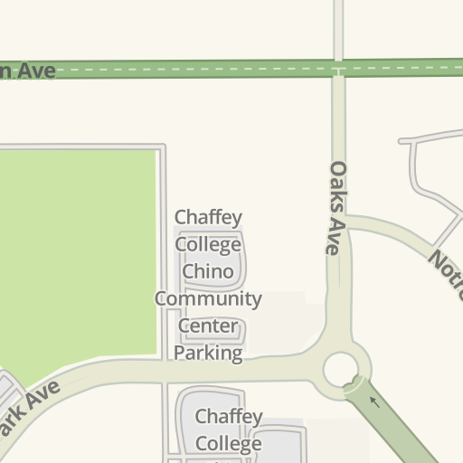 Waze Livemap Driving Directions To Chaffey College Chino Campus