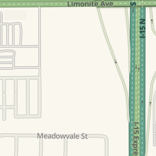 Waze Livemap - Driving Directions to Party City, Eastvale, United States
