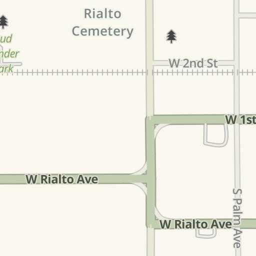 Waze Livemap Driving Directions To Rialto Fire Station 201 Rialto