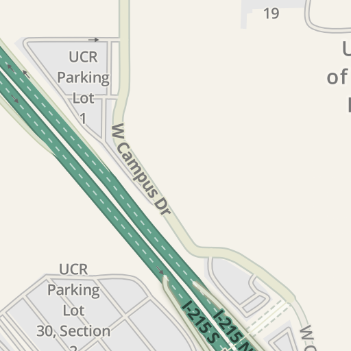 Waze Livemap - Driving Directions to UCR Parking Lot 1, Riverside ...