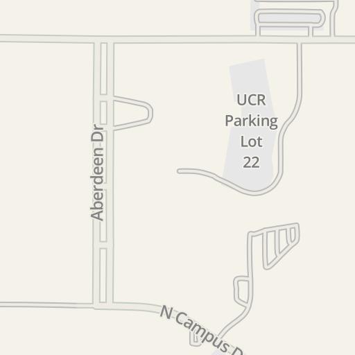 Waze Livemap - Driving Directions to UCR Parking Lot 16, Riverside ...