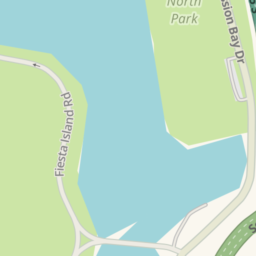 Waze Livemap Driving Directions To Tecolote Shores North Park San