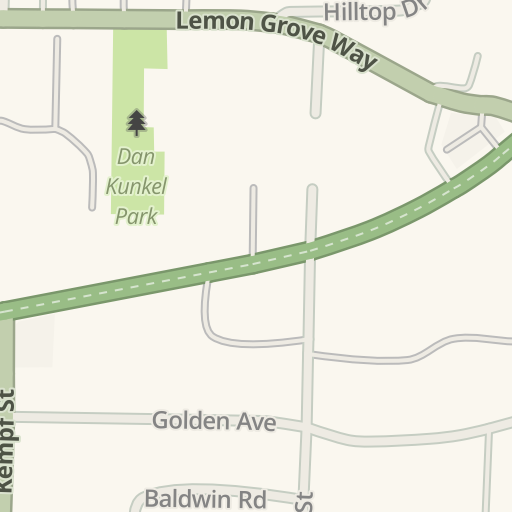 Waze Livemap Driving Directions To Briadway Auto Electric Lemon Grove United States