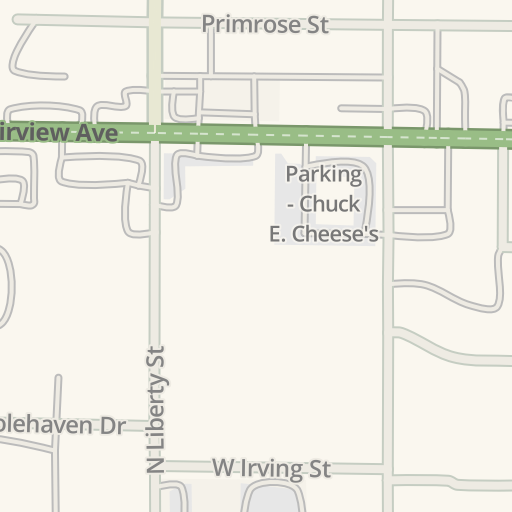 Waze Livemap - Driving Directions to Chuck E Cheese, Boise, United on