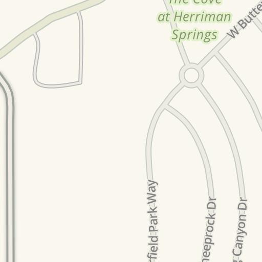 Waze Livemap Driving Directions To Lds Church Herriman Utah Rose