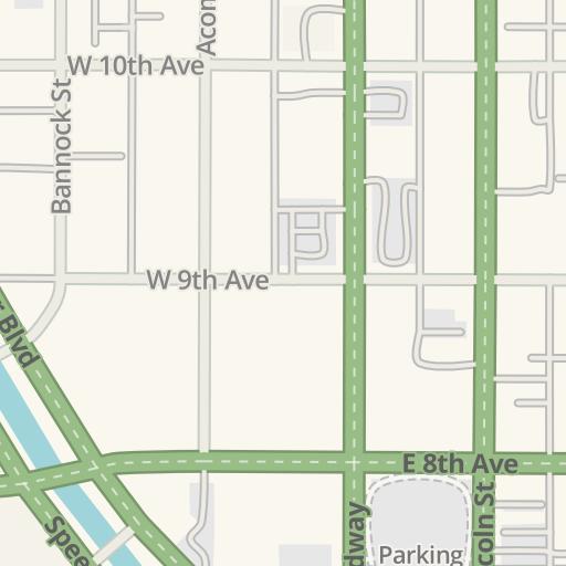 Waze Livemap - Driving Directions to Denver Health Hospital, Denver on