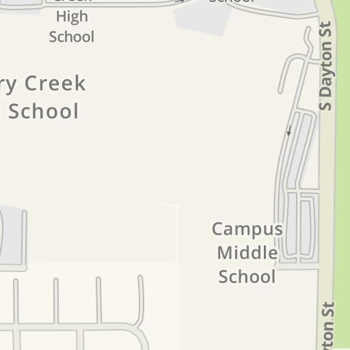 Cherry Creek High School Campus Map.Waze Livemap Driving Directions To Parking Cherry Creek High