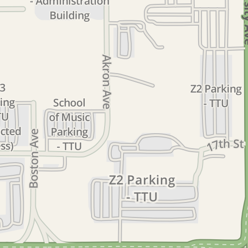 Waze Livemap - Driving Directions to Z2 Parking - TTU, Lubbock ...