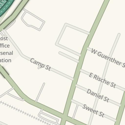 Waze Livemap Driving Directions To Utsa Downtown Campus Monterey