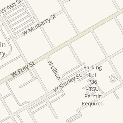 Tarleton State Map.Waze Livemap Driving Directions To Tarleton State University