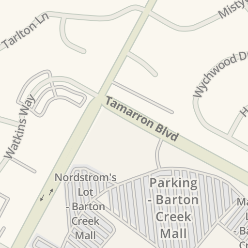 Waze Livemap Driving Directions To Barton Creek Square Mall