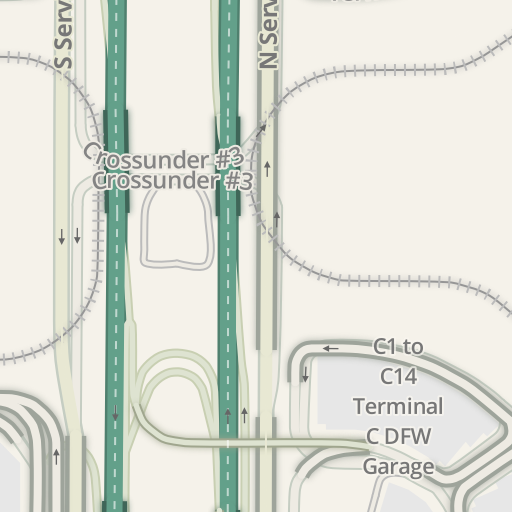 Waze Livemap - Driving Directions to DFW Terminal C, DFW Airport ...