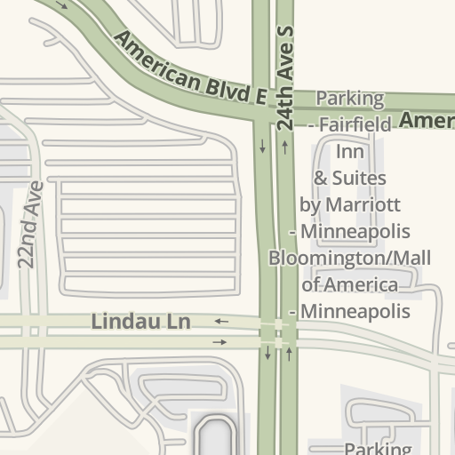 Waze Livemap Driving Directions To Parking Mall Of America East