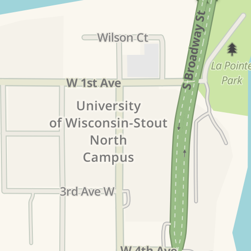 Waze Livemap Driving Directions To University Of Wisconsin Stout