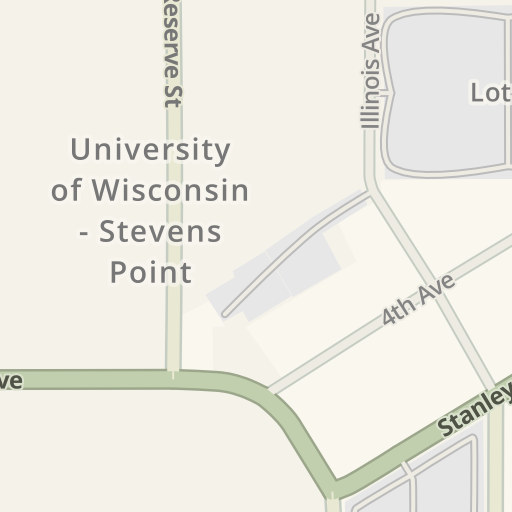 Stevens Point Campus Map.Waze Livemap Driving Directions To Campus Cycle Stevens Point
