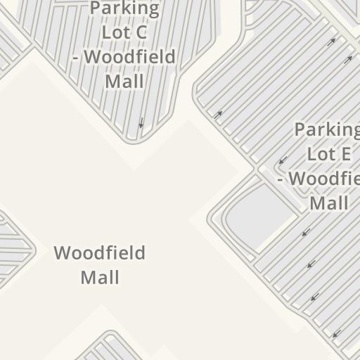 1cbfcfac01 Waze Livemap - Driving Directions to Parking Lot - Woodfield Mall ...