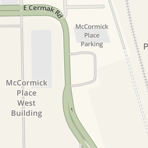 Waze Livemap Driving Directions To Gate 40 Mccormick Place West