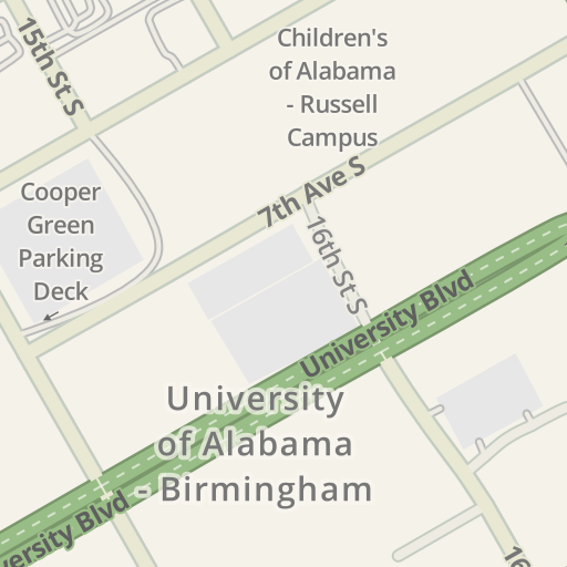 Driving Directions to Lot 188 - UAB, Birmingham, United