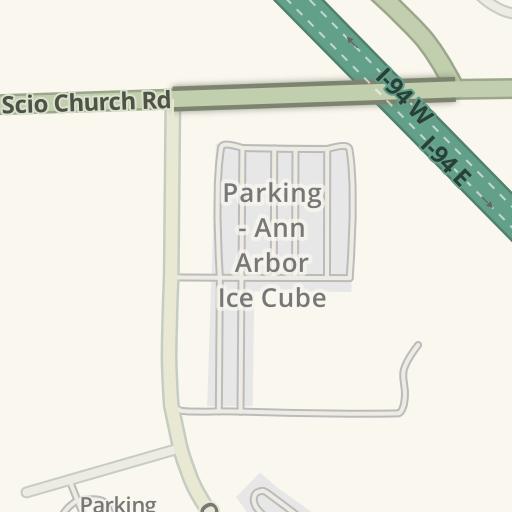 Waze Livemap Driving Directions To Churchill Downs Park Ann Arbor