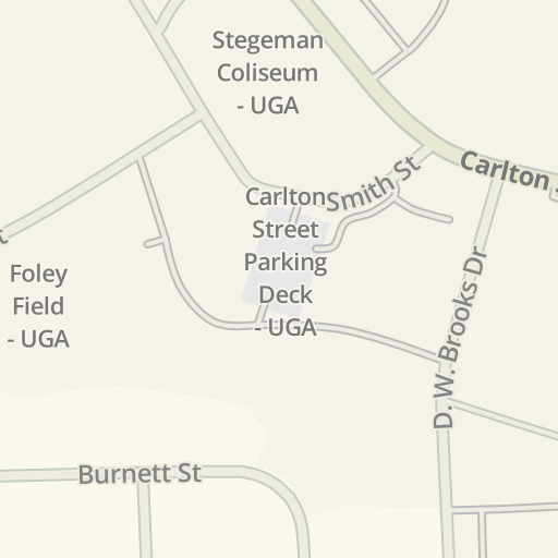 Driving Directions to Parking - Boggs Hall - UGA, Athens, United ...
