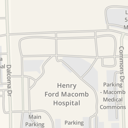Henry Ford Hospital Campus Map.Waze Livemap Driving Directions To North Entrance Henry Ford