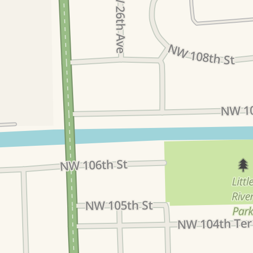 Waze Livemap Driving Directions To Miami Dade College North Campus