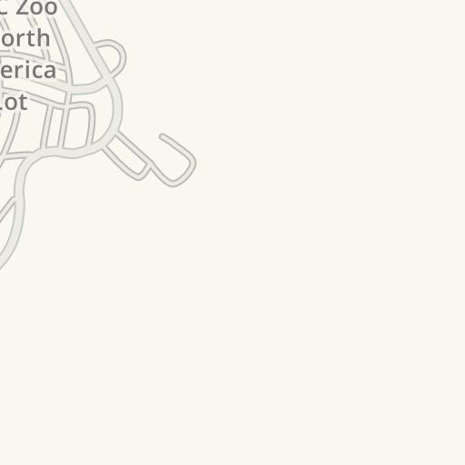 Waze Livemap - Driving Directions to Parking - NC Zoo - Employee Lot ...