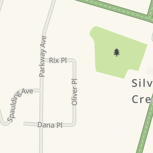 Waze Livemap Driving Directions To Silver Creek Fire Department