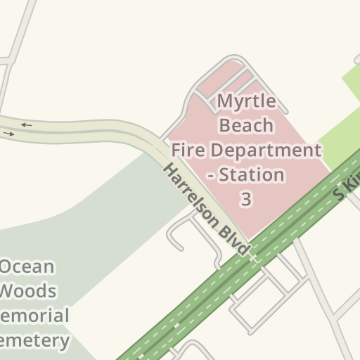 waze livemap driving directions to christmas mouse myrtle beach united states - Christmas Mouse Myrtle Beach