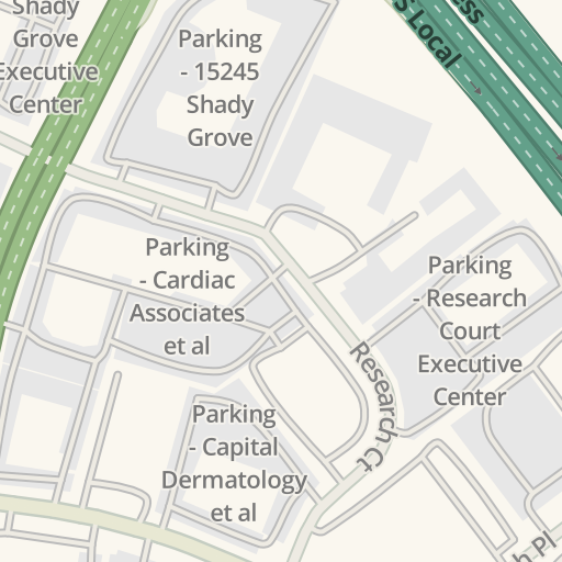 Waze Livemap Driving Directions To Parking 15005 Shady Grove