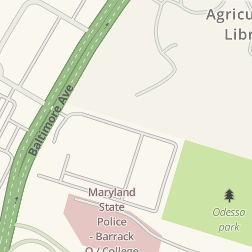 Waze Livemap Driving Directions To Maryland State Police Barrack