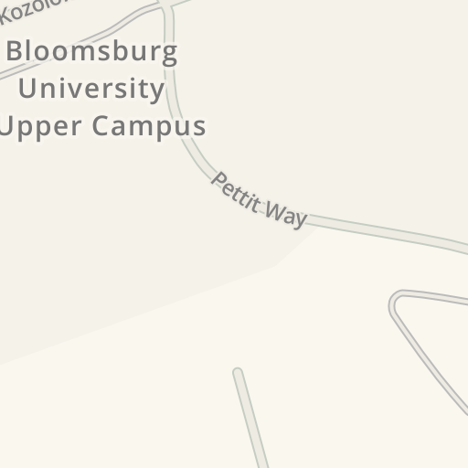 Waze Livemap Driving Directions To Bloomsburg University Upper