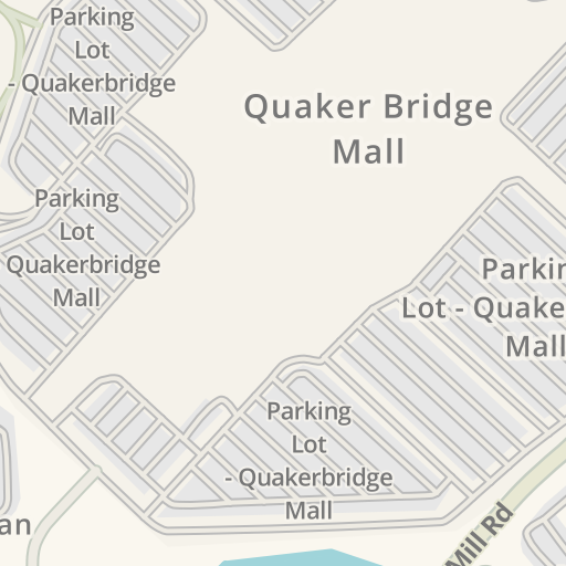 Waze Livemap - Driving Directions to Parking Lot - Quakerbridge Mall on