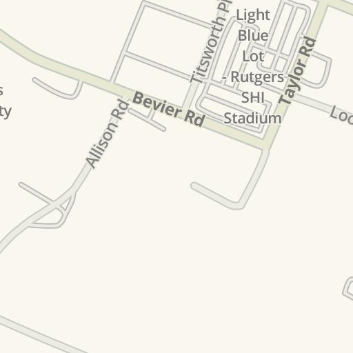 Waze Livemap - Driving Directions to Rutgers University - Busch ...