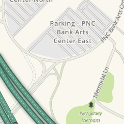 Driving Directions to Parking - PNC Bank Arts Center East