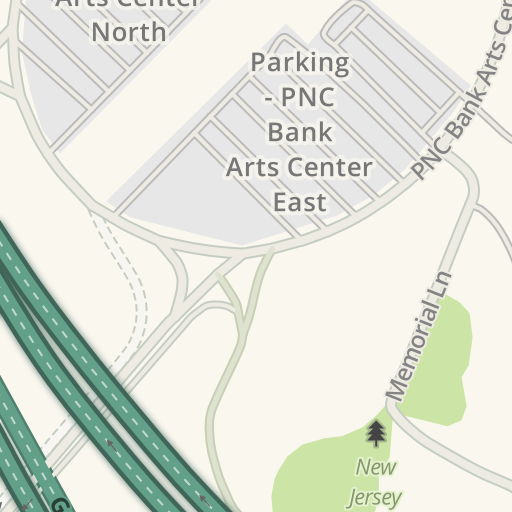Driving Directions to Parking - PNC Bank Arts Center East, Holmdel