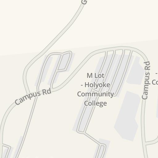 Holyoke Community College Campus Map.Waze Livemap Driving Directions To Holyoke Community College