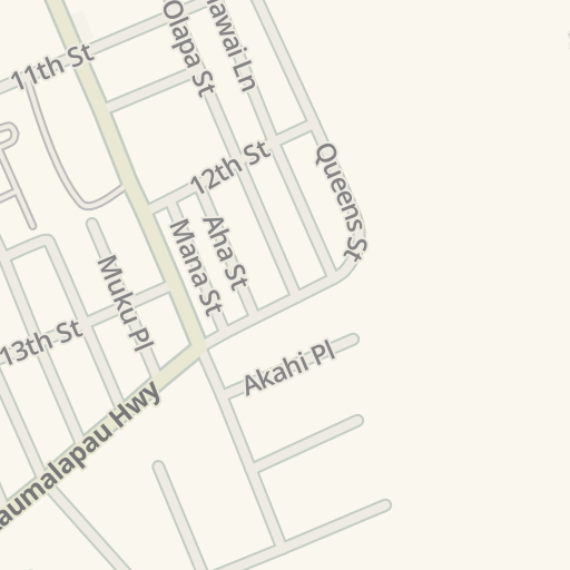 Waze Livemap Driving Directions To Maui County Fire Department