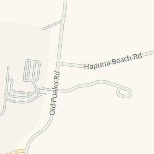 Waze Livemap Driving Directions To Hapuna Beach Prince Hotel Kohala Coast United States